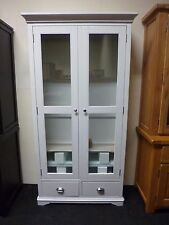 New Large French Light Grey Glazed Display Unit Cabinet *Furniture Store*