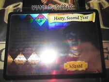 HARRY POTTER TCG CHAMBER OF SECRETS HARRY SECOND YEAR 28/140 RARE MIRROR FOIL