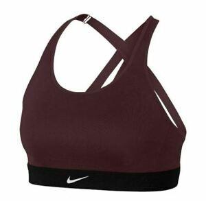 NWT Nike Women's Indy Light Dri-Fit Sports Bra Burgundy Sz XS