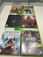 6 X Xbox 360 Games Microsoft Tombraider | Skyrim | Assassins Creed