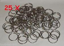 lot de 25 anneaux pour fabrication de porte clé, 25 sleutelhanger ringen +++A