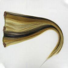 extensions à clips peruk cheveux blond clair méché cuivré clair chocolat 15613h4