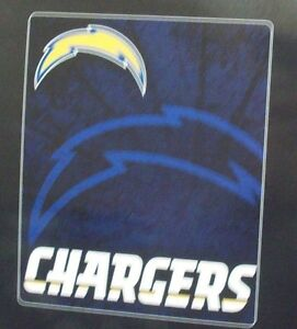 NFL Los Angeles Chargers Royal Plush Raschel 50x60 Throw Blanket Style Roll Out