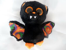 "Ty Beanie Boo Scarem Bat Black Orange soft toy plush small 6"" Halloween"