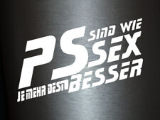 1 x 2 Plott Aufkleber PS sind wie Sex Autoaufkleber Sticker Shocker Dub Fun Gag
