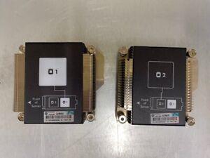 HP BL460C G8 BLADE CPU1 AND CPU2 HEATSINKS 670031-001 , 670032-001 , 715817-001