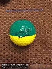 PING GOLF BALL-GREEN/YELLOW PING PROMOTIONAL PING EYE2#2.ERROR BALL NO LOGO.9/10