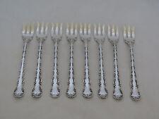 Set of 8 Gorham Sterling Strasbourg Seafood Forks