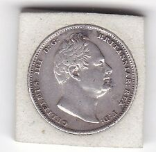 1834    King   William  IV  Sixpence  (6d)  Sterling  Silver  British  Coin