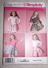 Simplicity Pattern 2356 Girls Skirts, Slips and Accessories **Uncut