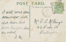 "2455 ""DARLINGTON / 2"" scarce Squared Circle Postmark (Cohen Type 1st I D-2 CT)"