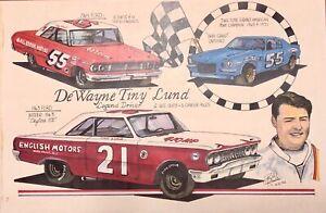 'Tiny' Lund 1963 Daytona 500 Champ and Hero NASCAR driver print by BILL RANKIN
