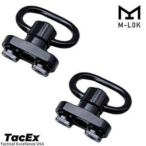 2 Pack M-LOK MLOK Quick Release Sling Mount Push Button QD Sling Swivel Adaptor