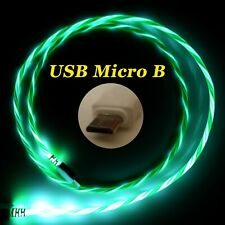LifeShift Ladekabel für USB Micro B LED Soft-Light grün fliessend leuchtend 1m