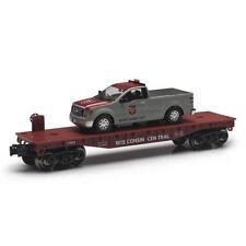 Railroad Train Flatcar Wisconsin Central With F150 Maintenance Truck O Gauge