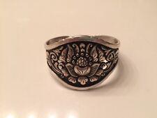 Vintage Yogya 800 silver Repousse cuff bracelet ~*$5 OFF*~