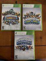Xbox 360 Skylanders Lot Of 3 -  Spyros Adventure, Swap Force, Giants Games