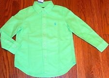 POLO RALPH LAUREN AUTHENTIC BOYS BRAND NEW ORIGINAL DRESS SHIRT Size 5T, NWT