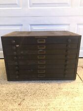 Vintage B * B FANCY CRYSTALS 8 Drawer Metal Cabinet - USA - Collectors Cabinet