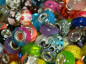 NEW 200/Pc COLORFUL High Visual Mixed 14mm RESIN European Beads lot (200)