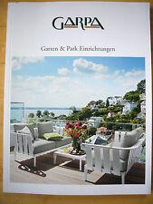Katalog GARPA  2013 Garten & Park Einrichtungen Gartenmöbel - Lounge - Outdoor -