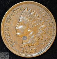 1907 Indian Head Cent, Penny, Extremely Fine+ Condition, Free Shipping, C4901