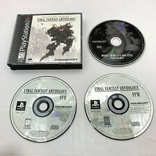 New listing Final Fantasy Anthology Black Label Complete w/Cd (Sony PlayStation 1, 1999) Ps1