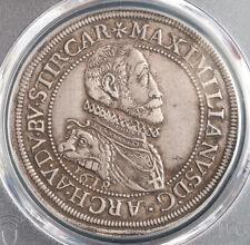 1618, Alsace/Teutonic Knights, Maximilian III. Silver Thaler Coin. PCGS XF-45!