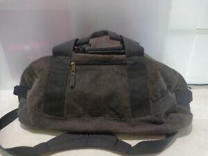 "Vintage LL BEAN Canvas Duffle Bag XL COLOR  Faded Black  Treavel Bag - 26"" Long"