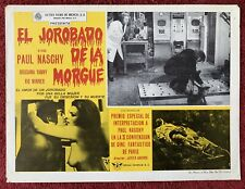 PAUL NASCHY HUNCHBACK OF THE MORGUE Lobby Card MEXICAN 1973