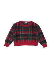 Boy Ralph Lauren Red Plaid Wool Holiday Pullover Sweater Size 4