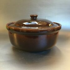 Antique Vintage Medalta Pottery Earthenware Covered Casserole Dish Bean Crock #8