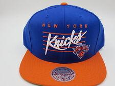 New York Knicks Blue Orange Wool Mitchell & Ness NBA Retro Snapback Hat Cap