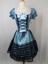 Wicked Dorothy Hoop Skirt Halloween Costume Adult One Size Dress Only #5200