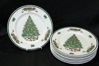 "Johnson Brothers Victorian  Xmas Dinner Plates 10.25"" Lot of 9"