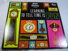 Disney - Learning To Tell Time Is Fun - Excellent Condition