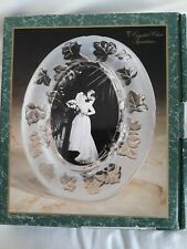 Fifth Avenue Crystal Oval Photo Picture Frame 5X7 Crystal Clear Signatures