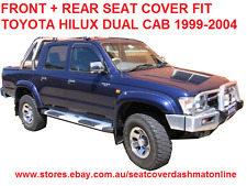 PLAIN GREY VELOUR SEAT COVER FRONT + REAR FIT TOYOTA HILUX 1997 - 2004 DUAL CAB