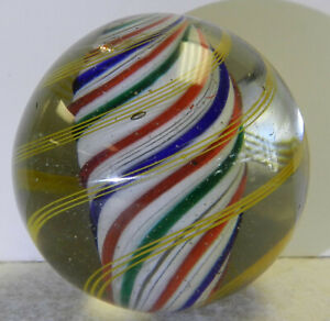 #13023m Huge 2.07 Inches German Handmade Solid Core Swirl Marble