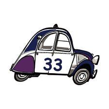 2 CV département 33 voiture autocollant sticker adhesif 8 cm