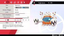 Pokemon Engloutyran  shiny 6IV + masterball - Battle Ready - Pokémon Epée/Boucli
