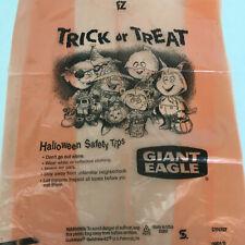 vintage giant eagle supermarket Halloween trick or trick plastic shopping bag