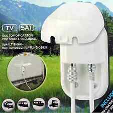 RV caravan marine motorhome ANTENNA SAT OUTLET SOCKET + 3m F connector cable TV