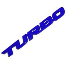 BLUE METAL TURBO TEXT ENGINE RACE MOTOR SWAP EMBLEM BADGE FOR TRUNK HOOD DOOR A
