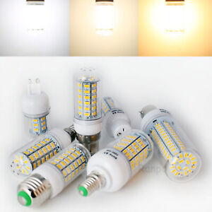 E27 E14 B22 G9 GU10 5-28W 5730 SMD LED Corn Light Bulb Lamp Warm Cool White