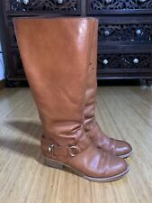 Coach Women's Riding Boot Brown Leather Size 8