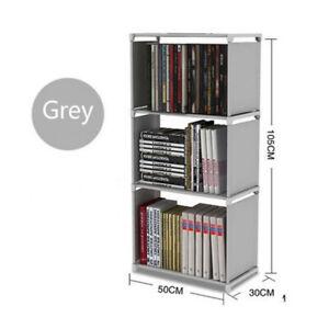 3 Tier Open Bookshelf Storage Cabinet Rack Canvas Bookcase Display Home Office