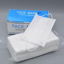 50pcs Earloop Disposable Face Mask White Medical Dental Nail Tattoo Health