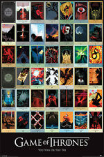 GAME OF THRONES EPISODES POSTER  91.5X61CM MAXI OFFICIAL MERCHANDISE PYRAMID
