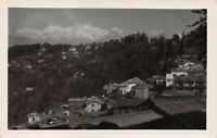Vintage 1920s Real Photo Nepal Postcard, A View of the Himalayas by T.I.C DB0